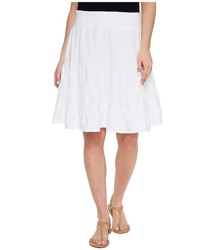 Fresh Produce Jersey Tiered Skirt (White) Women