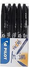 Pilot Frixion Erasable Rollerball Pen Set - Black, Pack of 5