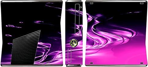 Purple and Pink Splash Vinyl Decal Sticker Skin by Moonlight4225 for Xbox 360 Slim (2010)
