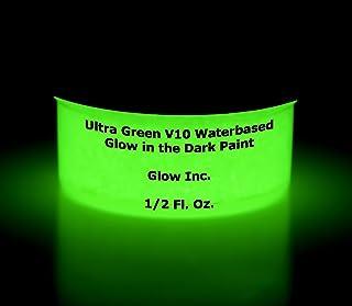 Ultra Green V10 Glow in the Dark Paint 1/2 Fluid Ounce
