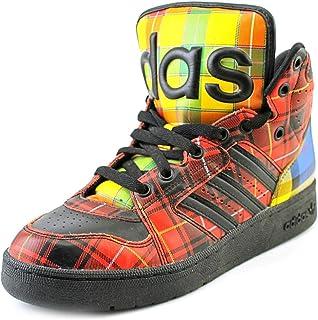 the latest aa229 60f1f adidas Originals ObyO JS Jeremy Scott Instinct Hi Plaid Tartan Q23667 Men s  Shoes