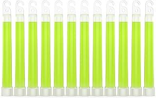 "Swiss Safe Premium 6"" Glow Sticks - Extra Bright, 12+ Hour Duration, Emergency Ready (Green 12-Pack)"