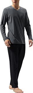 DAVID ARCHY Men`s Cotton Sleepwear Tall PJs Long Johns Pajamas Set