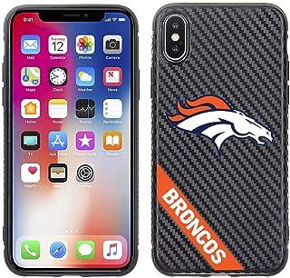 Prime Brands Group Cell Phone Case for Apple iPhone X and XS - NFL Licensed Denver Broncos - Black Carbon