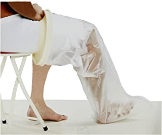 Leg Cast Cover with Automatic Water Seal Protection - Lightweight, Reusable and Convenient for Easy Pull Single Hand Operation - Unisize