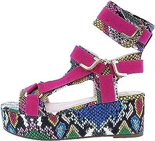 UULIKE Femmes Sandale Plates,Ete Chaussures Plateforme à Bout Ouvert Confort Hauts Chaussures,Casual Talons Hauts Chausson...