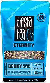 Berry Apple White Tea | BERRY RHUBARB SPRITZ 8 Ounce Bag by TIESTA TEA | Low Caffeine | Loose Leaf White Tea Eternity Blend