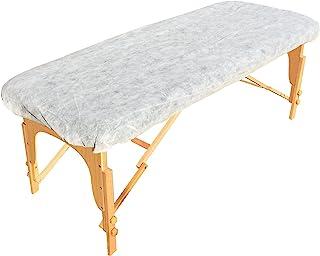عبوة من 25 مفرش طاولة للتدليك للاستعمال مرة واحدة من جولدن كوست انليميتد - ملاءات سرير مطاطية بيضاء شديدة التحمل، مثالية ل...