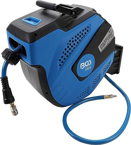 BGS 3323   Druckluftschlauch mit Aufroller   automatisch   12 m + 2 m