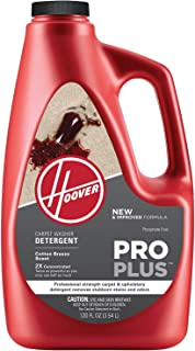 Hoover Pro Plus 2X Carpet Washer and Upholstery Detergent Solution, 120 oz, AH30051NF, Red