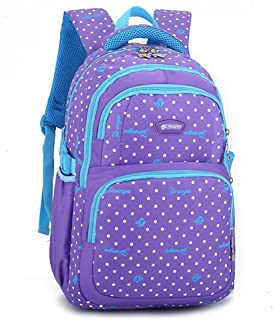School bag for boys and girls waterproof backpack shoulder loss protection spine backpack 11.8 * 7 * 18.1 inch,Purple