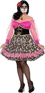 Women's Day of The Dead Party Lady Fancy Dress Halloween Plus Size Costume