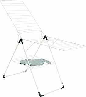 Brabantia 476068 Séchoir d'Intérieur - Modèle en T Pliable - 20 m - Blanc