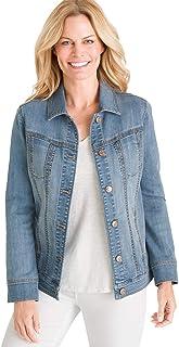 Chico's Women's Stretch Jean Jacket Denim Blue
