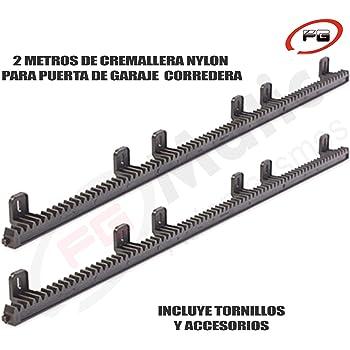 2 Metros de cremallera de nylon reforzada en acero para puerta o cancela de corredera: Amazon.es: Bricolaje y herramientas