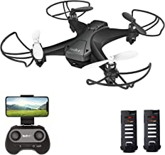 $37 » tech rc Mini Drone with Camera FPV Quadcopter, Long Flight Time with 2 Batteries, Easy Fly with Auto Hovering, Headless Mode, One-Key Flight, App Control Available Toy Drone for Kids and Beginners