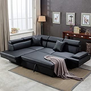 Amazon.com: Black - Sofas & Couches / Living Room Furniture: Home ...