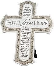 Lighthouse Christian Products Faith Hope Love Wall/Desktop Cross, 8 1/4 x 10 3/4