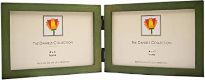 The Original DANIELS W41 SQUARE CORNER classic hinged horizontal green stained by Dennis Daniels® -