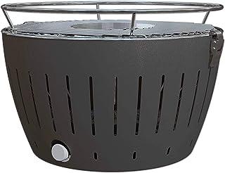 LotusGrill–Barbacoa de carbón Vegetal sin Humos–con Turbo Ventilador para calefacción rápida–Color Gris/Carbón