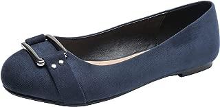 Aukusor Women's Wide Width Ballet Flat - Cozy Round Toe Slip On Flat Shoes.