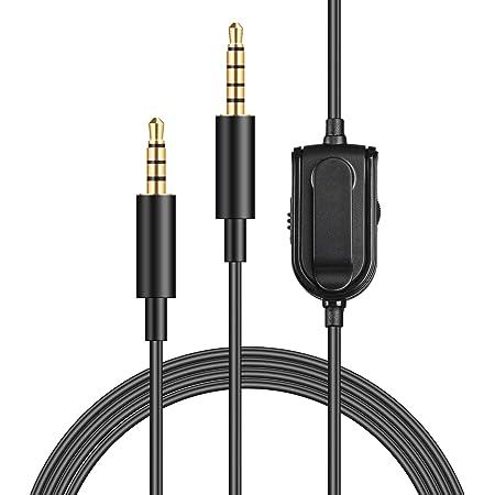 Cable de repuesto A10 A40 para control de volumen de silencio en l/ínea para auriculares Astro A10//A40//A30//A50 cable de extensi/ón de audio para auriculares Xbox One Play Station 4 PS4 6.5 pies