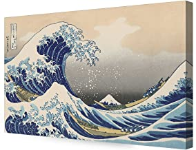 DECORARTS - The Great Wave Off Kanagawa by Katsushika Hoki. Classic Art Reproduction, Giclee Print on Canvas Stretched Gallery Wrapped 36x24