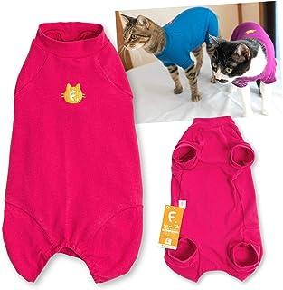 犬猫の服 full of vigor_猫用シンプル袖付きつなぎ_26/濃いピンク_C2S_猫用
