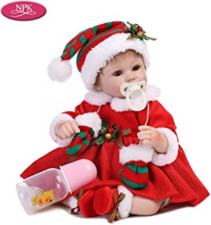 Docooler 16inch Girl Soft Body Silicone Realistic Baby Doll Play House Game Toys