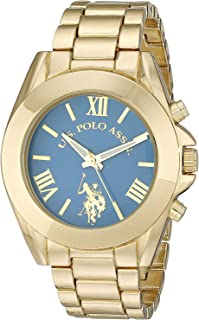 U.S. Polo Assn. Women's Quartz Watch, Analog Display and Gold Plated Strap USC40048