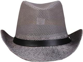 Elonglin Panama Summer Fedora Trilby Linen Mesh Sun Hats For Men Women Safari Beach Hat Classic