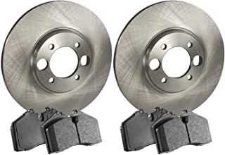 2018 for Honda Civic Rear Premium Quality Cross Drilled and Slotted Coated Disc Brake Rotors And Ceramic Brake Pads - For Both Left and Right Stirling One Year Warranty