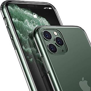 DTTO iPhone 11 Pro ケース 5.8インチ 9H背面強化ガラス TPUバンパー 米軍MIL規格 日本旭硝子製 高透明 三層構造 クリア 黄変防止 四隅滑り止め ストラップホール付き クリア