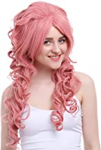 Nuoqi Womens 70cm Long Fashion Wave Magenta Pink Hair Cosplay Wig ZY65E