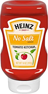 Heinz No Salt Added Tomato Ketchup, 14 oz Bottle