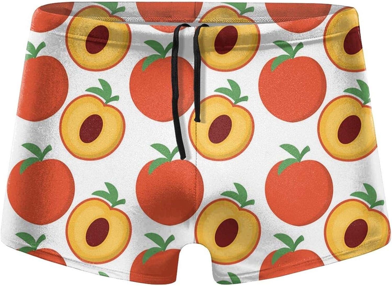 Christmas Peach Fruits Men's Swimming Trunks Fitness Swimwear Boxer Pants Board Shorts