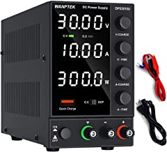 DC Power Supply Variable, Adjustable Switching Regulated Power Supply (0-30 V 0-10 A) with 4-Digits LED Display, USB Quick...
