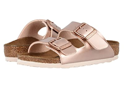 Birkenstock Kids Arizona (Toddler/Little Kid/Big Kid) (Electric Metallic Copper) Girls Shoes