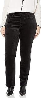 NYDJ Women's Plus Size Marilyn Straight Leg Velvet Jeans
