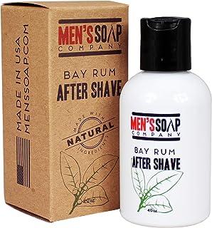 Aftershave for Men 4.0 oz After Shave Balm Made With Organic and Natural Vegan Plant Ingredients - Post Shave Lotion for Sensitive Skin Eliminates Razor Burns, Calms Irritation & Cools Skin, Bay Rum