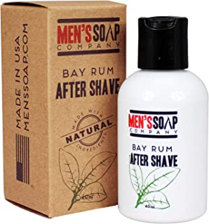 Aftershave for Men 4.0 oz After Shave Balm Made With Organic and Natural Vegan Plant Ingredients - Post Shave Lotion for Sensitive Skin Eliminates Razor Burns, Calms Irritation & Cools Skin, Bay Rum