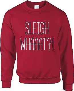 Christmas Jumper Sweater Sweatshirt Sleigh What Festive Seasonal Naughty Nice List Good Bad Elf Santa Family Friends Tree ...