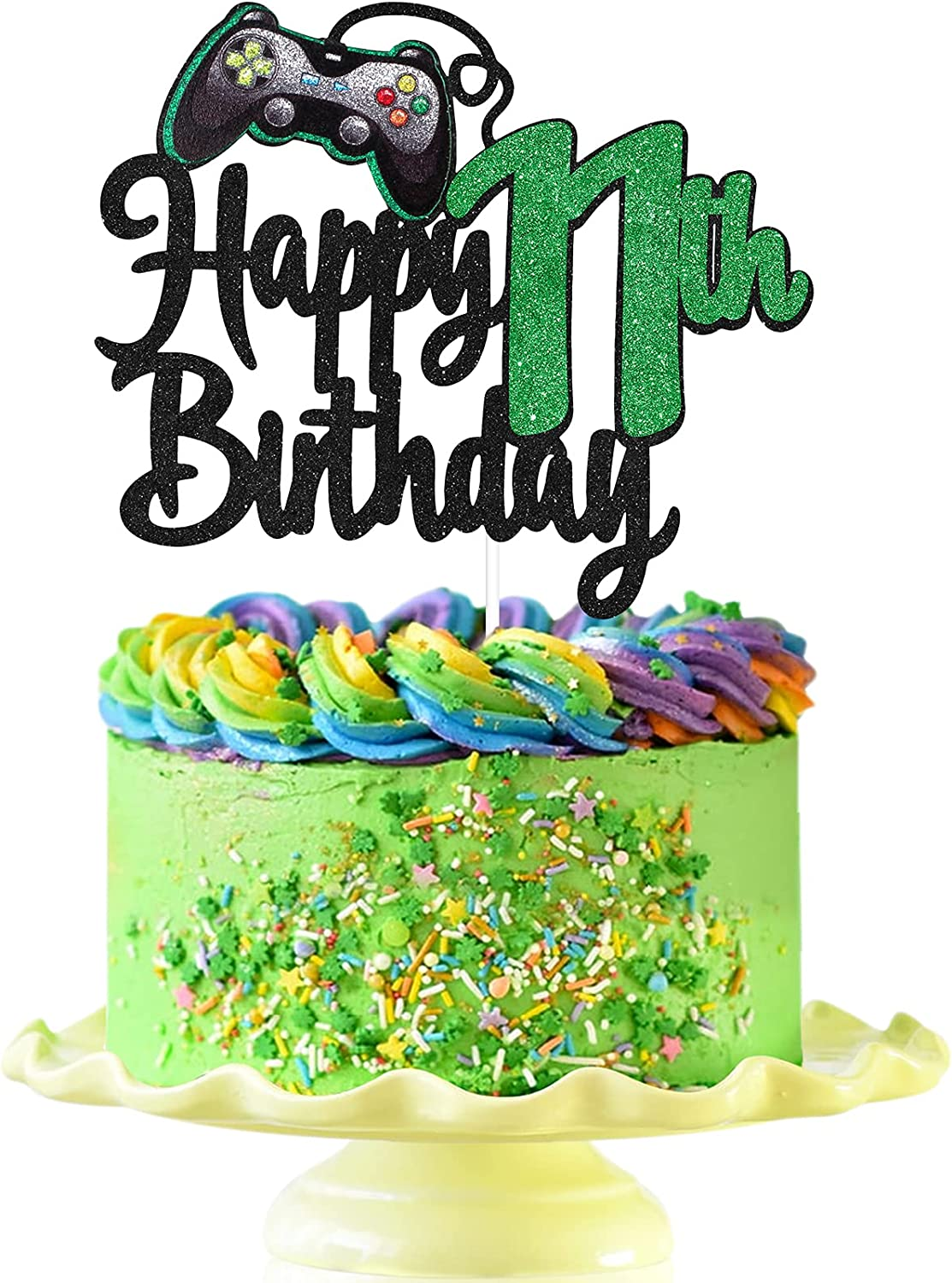 Video Game Happy 11th Luxury goods Birthday 11 Max 79% OFF Topper Cake - Boy's