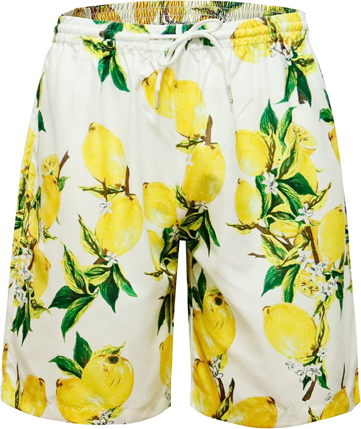 MCULIVOD Men's Swim Trunks Quick Dry Shorts Beach Surf Printed Board Shorts Swimwear Bathing Suits with Pockets