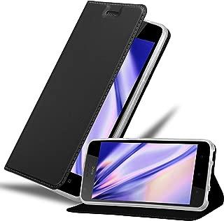 Cadorabo Book Case Works with HTC Desire 10 Lifestyle/Desire 825 Wallet Etui Cover CLASSY BLACK DE-122332