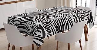 ABAKUHAUS Zebra Imprimer Nappe, Lignes Zebra Sauvages, Linge de Table Rectangulaire pour Salle à Manger Décor de Cuisine, ...
