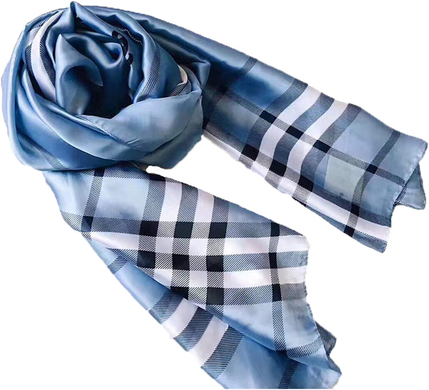 Women's and men's luxury fashion silk scarves, festivals and birthday gifts are suitable for all seasons (H5)
