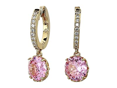 Kate Spade New York That Sparkle Pave Huggies Earrings (Pink) Earring