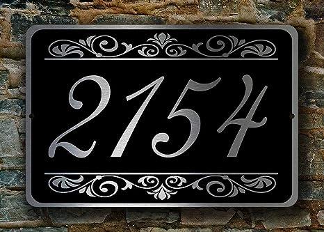 TYBXK Numeros casa exterior Las placas Personalizar personalizada Placas /& House Direcci/ón N/úmero muestras de la puerta y nombre de la propiedad 741 Color : Gold, Size : 140x200mm