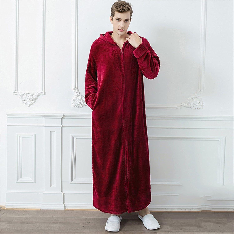 Ranking TOP18 Ranking TOP20 XJYWJ Bathrobe Men Extra Long Warm Winter Mens Sleepwear Male Ho